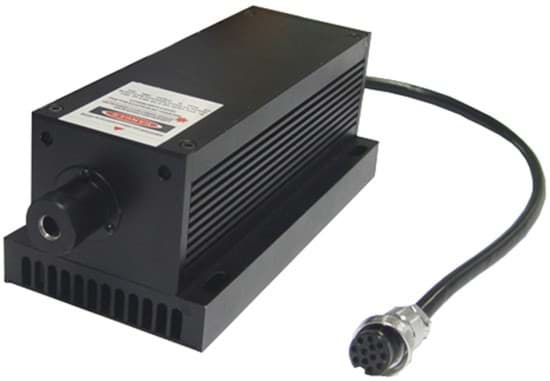 Picture of 100mW 589nm DPSS Laser